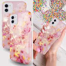 Eco Friendly Printed Pink Marble iPhone 11 Case from Uunique London in Phone Cases, Electronics