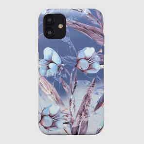 Eco Friendly Printed Floral Blue iPhone 12 Case from Uunique London in Phone Cases, Electronics