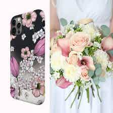 Eco Friendly Printed Floral Pink iPhone 12 Pro Max Case from Uunique London in Phone Cases, Electronics