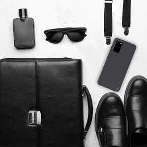 Eco Friendly Black Samsung Galaxy S20+ Case from Uunique London in Phone Cases, Electronics
