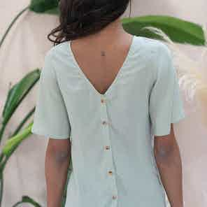 Lys reversible matcha green blouse from Avani in Tops, Women