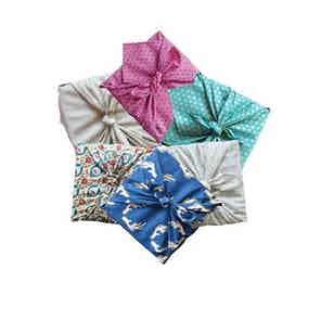 Reusable Gift Wrap Furoshiki - 6 Piece Single Sided Multi-style from FabRap in Gift Wrapping , Gifts