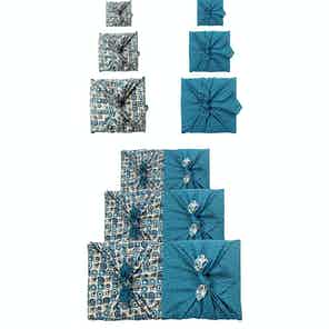 Reusable Gift Wrap Furoshiki - 9 Piece Art Deco & Ocean Bundle from FabRap in Gift Wrapping , Gifts