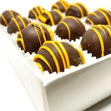 Premium Orange Truffles Handmade Chocolate (Covered with SugarFree Chocolate) Box12 from Chocolage in Bites, Chocolate
