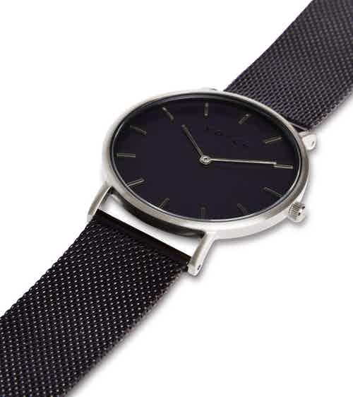 Silver & Black with Black | Mesh Classic from Votch in Watches, Accessories