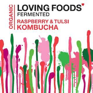 Organic Kombucha - Raspberry & Tulsi from Loving Foods in Fermented Food & Drinks, Health Foods