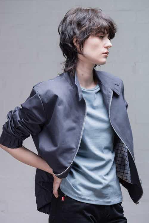 Harrington Jacket in Dark Blue or Grey from Rozenbroek in Jackets & Coats, Men