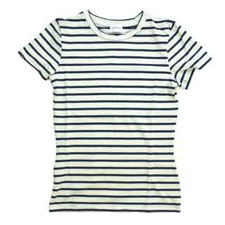 Organic Cotton T-Shirt in Wide Stripe from Rozenbroek in T shirts, Tops