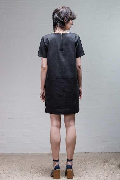 Denim Dress in Black from Rozenbroek in Casual Dresses, Dresses & Skirts
