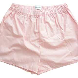 Organic poplin boxer shorts in pink from Rozenbroek in Shorts, Underwear
