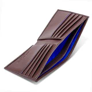 Vegan Wallet in Chestnut Brown & Blue from Watson & Wolfe in Wallets & Card Holders, Accessories