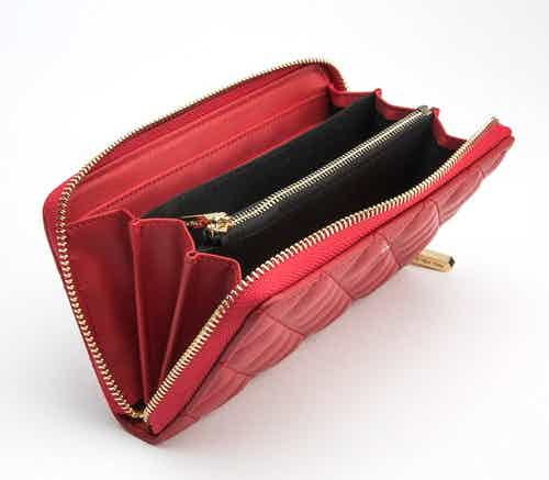 Uptown - Red Zipper Wallet from GUNAS New York in Purses, Bags