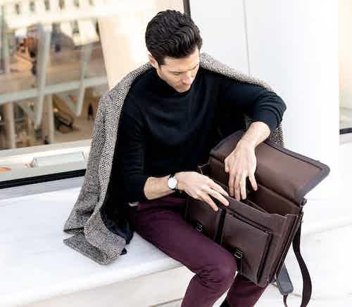 Moby - Charcoal Brown Men's Bag from GUNAS New York in Bags, Men