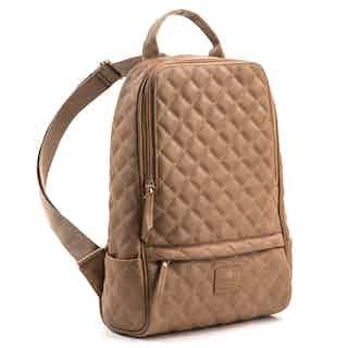 Cougar - Tan Vegan Quilted Backpack from GUNAS New York in Backpacks, Bags