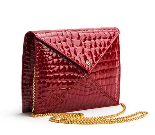 About Last Night - Red Vegan Clutch from GUNAS New York in Bags, Women