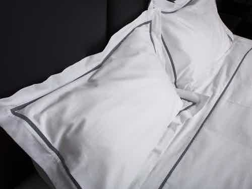 Duvet Cover Set Fair Trade Organic Boutique Grey Trim from Their story in Bedding, Bedroom