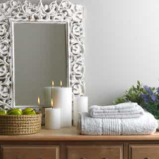 White Organic Cotton Fairtrade Bath Towel from Their story in Bathroom, Home
