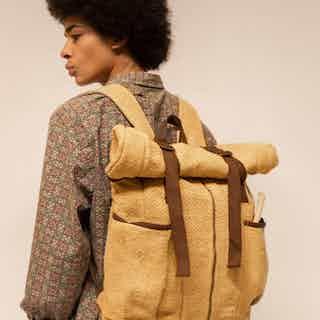 Nuptse Backpack 100% Hemp Mustard from Hemper Handmade in Backpacks, Bags