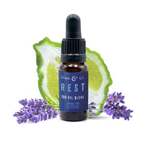 REST 500mg CBD Hemp Oil from Grass & Co. in Beauty,