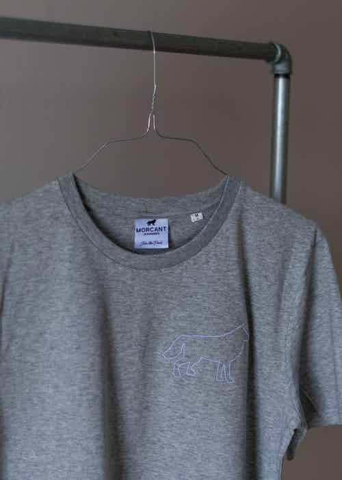 Organic Silhouette T-Shirt - Grey from Morcant in T shirts, Tops