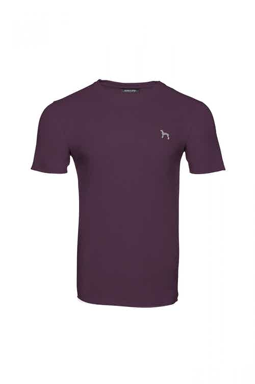 Organic Cotton Boys' Crew Neck T-shirt - Wakebridge Wine from Masson and Green in Tops & Jumpers, Boys 4+ Years