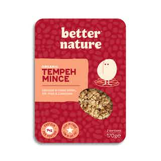 Organic Tempeh Mince from Better Nature in Meat Alternatives, Food & Drink