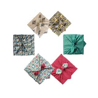 Reusable Gift Wrap Furoshiki - 4 Piece Mini Multi-size & Multi-style Starter Pack from FabRap in Gift Wrapping , Gifts