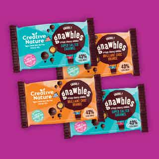 Crispy Protein Gnawbles Taster Pack from Creative Nature in Snacks & Treats, Food & Drink