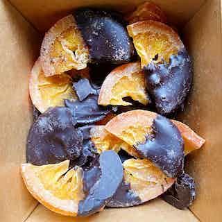 Dark Vegan Orange Slices from Chocolage in Snacks & Treats, Food & Drink