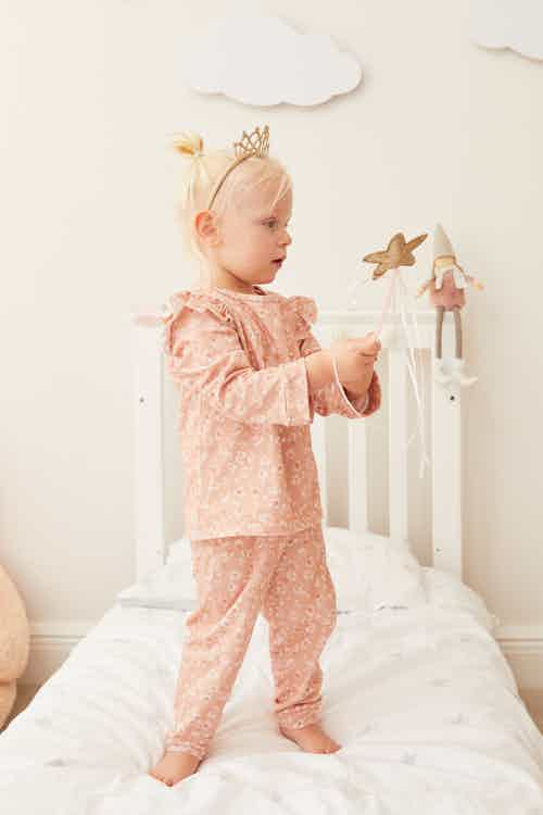 Kid's Organic Spotted Leopard Pyjama Set from Me & Maeve Grace in Babygrows & Sleepwear, Baby and Toddler (0-4)