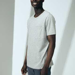 100% Cotton T-shirt (Grey Stripe) from Cut & Pin in Men,