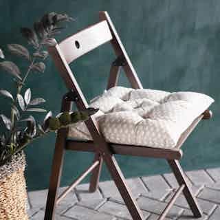Wabi Sabi Seat Pad in Herb from Tikauo in Seat Pads, Furnishings